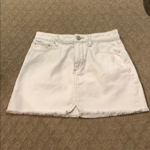 BDG white jean skirt